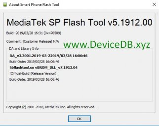 SP Flash Tool v5.1912 (Windows)