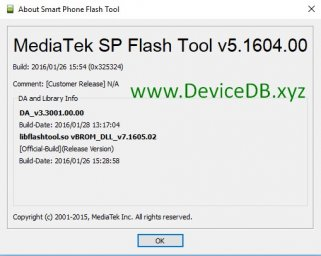 SP Flash Tool v5.1604 (Windows)