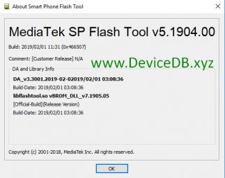 SP Flash Tool v5.1904 (Windows)