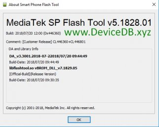 SP Flash Tool v5.1828 (Windows)