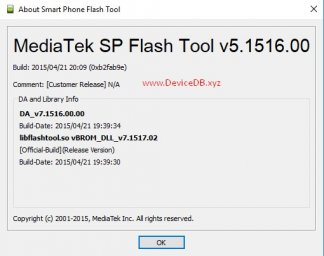 SP Flash Tool v5.1516 (Windows)