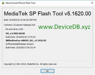 SP Flash Tool v5.1620 (Windows)