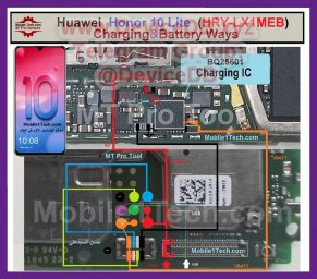 Huawei Honor 10 Lite (HRY-LX1MEB) Charging & Battery Ways