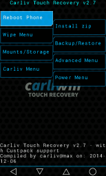 Билайн Smart 3 recovery Carliv Touch Recovery v2.7
