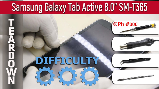 Как разобрать Samsung Galaxy Tab Active 8.0'' (SM-T365) Teardown Take apart Tutorial