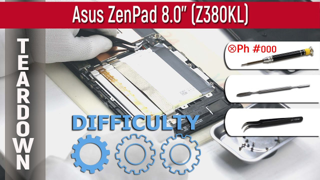 Как разобрать Asus ZenPad 8.0'' Z380KL Teardown Take apart Tutorial