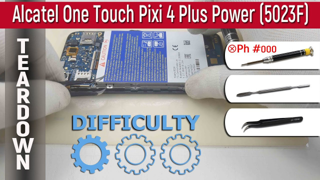 Как разобрать Alcatel One Touch Pixi 4 Plus Power 5023F