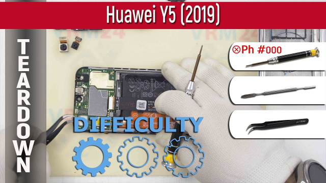 Как разобрать Huawei Y5 (2019) AMN-LX9 | Teardown Take apart Tutorial