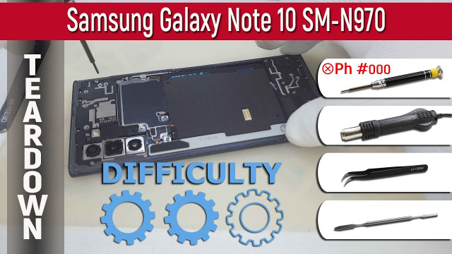 Как разобрать Samsung Galaxy Note 10 SM-N970