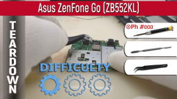 Как разобрать Asus ZenFone Go ZB552KL Teardown Take apart Tutorial