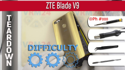 Как разобрать ZTE Blade V9 Teardown Take apart Tutorial