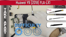 Как разобрать Huawei Y9 (2018) FLA-LX1 Take apart Tutorial