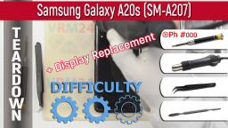 Как разобрать Samsung Galaxy A20s SM-A207. Teardown + Display Replacement
