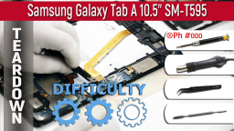 Как разобрать Samsung Galaxy Tab A 10.5'' SM-T595 Teardown Take apart Tutorial